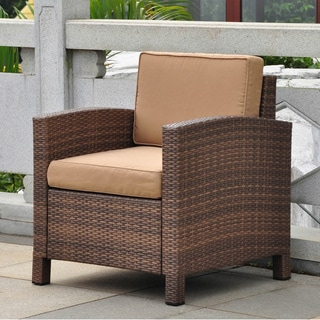 International Caravan Barcelona Resin Wicker/ Aluminum Armchair with Cushions