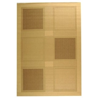 Safavieh Lakeview Natural/ Brown Indoor/ Outdoor Rug (9' x 12')