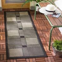 Safavieh Lakeview Black/ Sand Indoor/ Outdoor Rug - 2' 4 x 14'