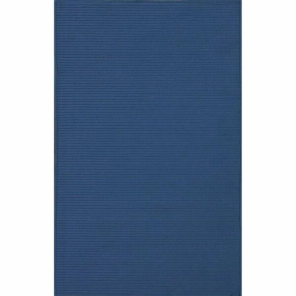 nuLOOM Handmade Indoor/ Outdoor Braided Blue Rug (5' x 8')