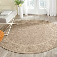 Safavieh Summer Brown/ Natural Indoor/ Outdoor Rug - 7' 10 Round