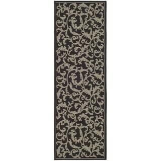 Safavieh Indoor/ Outdoor Courtyard Black/ Sand Rug (2'7 x 8'2)