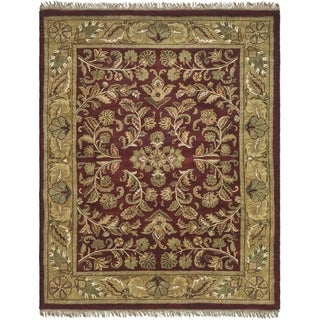 Safavieh Handmade Heritage Timeless Traditional Red/ Gold Wool Rug (5' x 8')