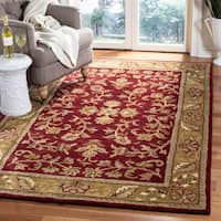 Safavieh Handmade Heritage Timeless Traditional Red/ Gold Wool Rug - 5' x 8'