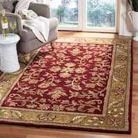 Safavieh Handmade Heritage Timeless Traditional Red/ Gold Wool Rug - 6' x 9'