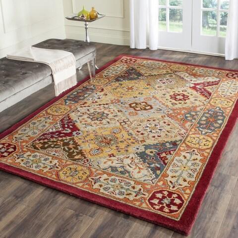 Safavieh Handmade Heritage Traditional Bakhtiari Multi/ Red Wool Rug - 11' x 15'