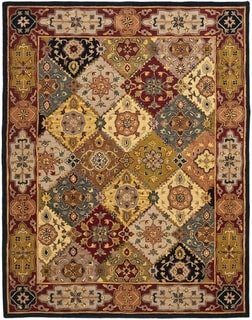 Safavieh Hand-made Heritage Multi/ Red Wool Rug (11' x 15')