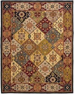 Safavieh Handmade Heritage Traditional Bakhtiari Multi/ Red Wool Rug (11' x 15')