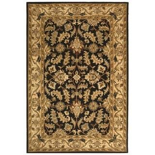Safavieh Handmade Heritage Traditional Kashan Black/ Beige Wool Rug (11' x 17')