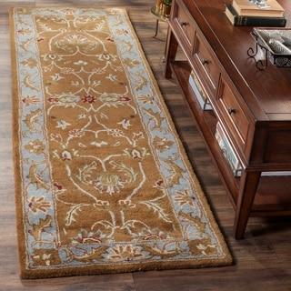 Safavieh Handmade Heritage Timeless Traditional Brown/ Blue Wool Rug (2'3 x 22')
