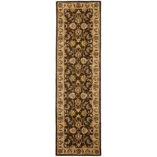 Safavieh Handmade Heritage Timeless Traditional Brown/ Ivory Wool Rug (2'3 x 18')