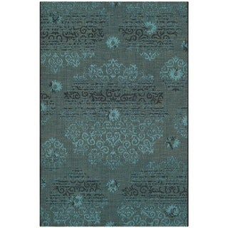 Safavieh Palazzo Black/ Turquoise Overdyed Chenille Area Rug (2' 6 x 5')