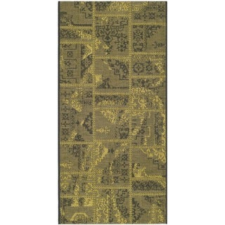 """Safavieh Palazzo Transitional Black/Green Overdyed Chenille Rug (2' x 3'6"""")"""