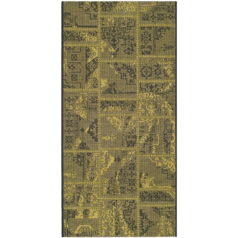 "Safavieh Palazzo Black/ Green Overdyed Chenille Area Rug - 2'6"" x 5'"