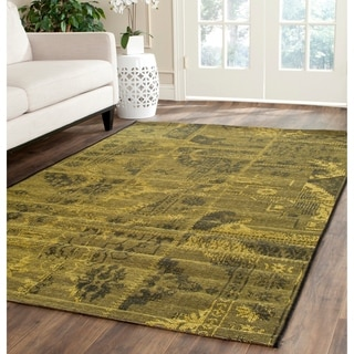 Safavieh Palazzo Black/ Green Over-dyed Chenille Rug (8' x 11')
