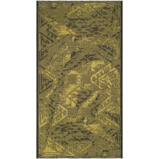 Safavieh Palazzo Black/ Green Over-dyed Chenille Rug (2' x 3'6)