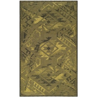 Safavieh Palazzo Black/ Green Over-dyed Chenille Rug (5' x 8')