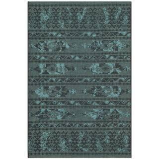 Safavieh Palazzo Black Turquoise Overdyed Chenille Area Rug 2 6