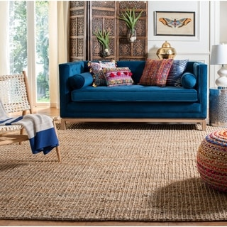 Safavieh Casual Natural Fiber Hand-Woven Natural Accents Chunky Thick Jute Rug (2' x 16')