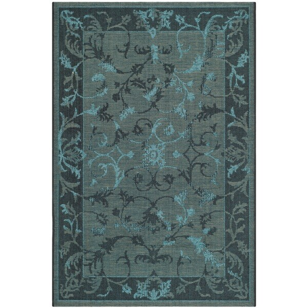 Turquoise Runner Rug: Shop Safavieh Palazzo Black/ Turquoise Overdyed Chenille
