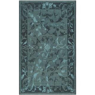 Safavieh Palazzo Black/ Turquoise Overdyed Chenille Area Rug (2' 6 x 5')