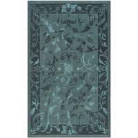 Safavieh Palazzo Black/ Turquoise Overdyed Chenille Area Rug - 5' x 8'