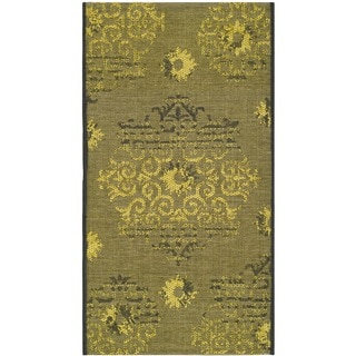 "Safavieh Palazzo Oriental Black/Green Overdyed Chenille Rug (2' x 3'6"")"