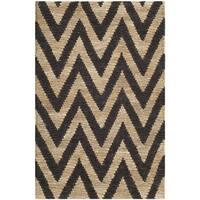 Safavieh Hand-knotted Organic Black/ Natural Wool Rug - 2'6 x 4'