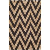 "Safavieh Hand-knotted Organic Black/ Natural Wool Rug - 2'6"" x 4'"