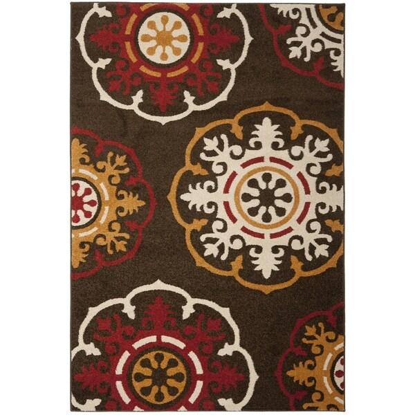 Safavieh Newbury Brown/ Red Rug (3' x 5')