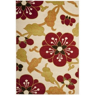 Safavieh Newbury Ivory/ Red Rug (3' x 5')