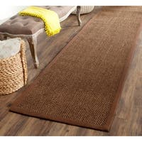 "Safavieh Casual Natural Fiber Brown / Brown Sisal Rug - 2'6"" x 18'"
