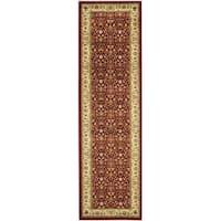 Safavieh Lyndhurst Traditional Oriental Burgundy/ Ivory Rug - 2'3 x 20'