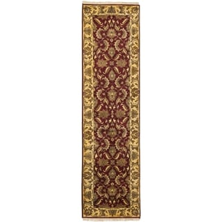Safavieh Hand-knotted Jaipur Red/ Gold Wool Rug (2'6 x 10')
