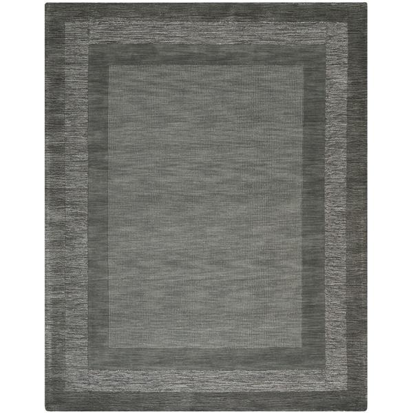Safavieh Handmade Impressions Modern Charcoal/ Blue Wool Rug - 8'3 x 11'