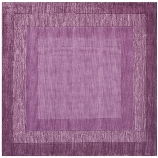 Safavieh Handmade Impressions Modern Purple New Zealand Wool Rug (6' Square)