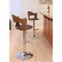 Cello Mid-century Modern Adjustable Wood Barstool