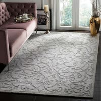 Contemporary Safavieh Hand-Made Impressions Grey Wool Rug - 8'3 x 11'