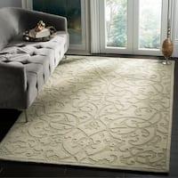 Safavieh Large Handmade Impressions Sage Wool Rug - 8'3' x 11'