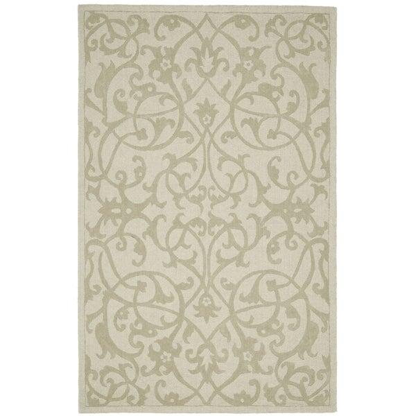 """Safavieh Large Handmade Impressions Sage Wool Rug (8'3"""" x 11')"""