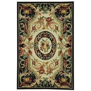 Safavieh Hand-hooked Chelsea Crysta Country Oriental Wool Rug (18 x 26 - Black)