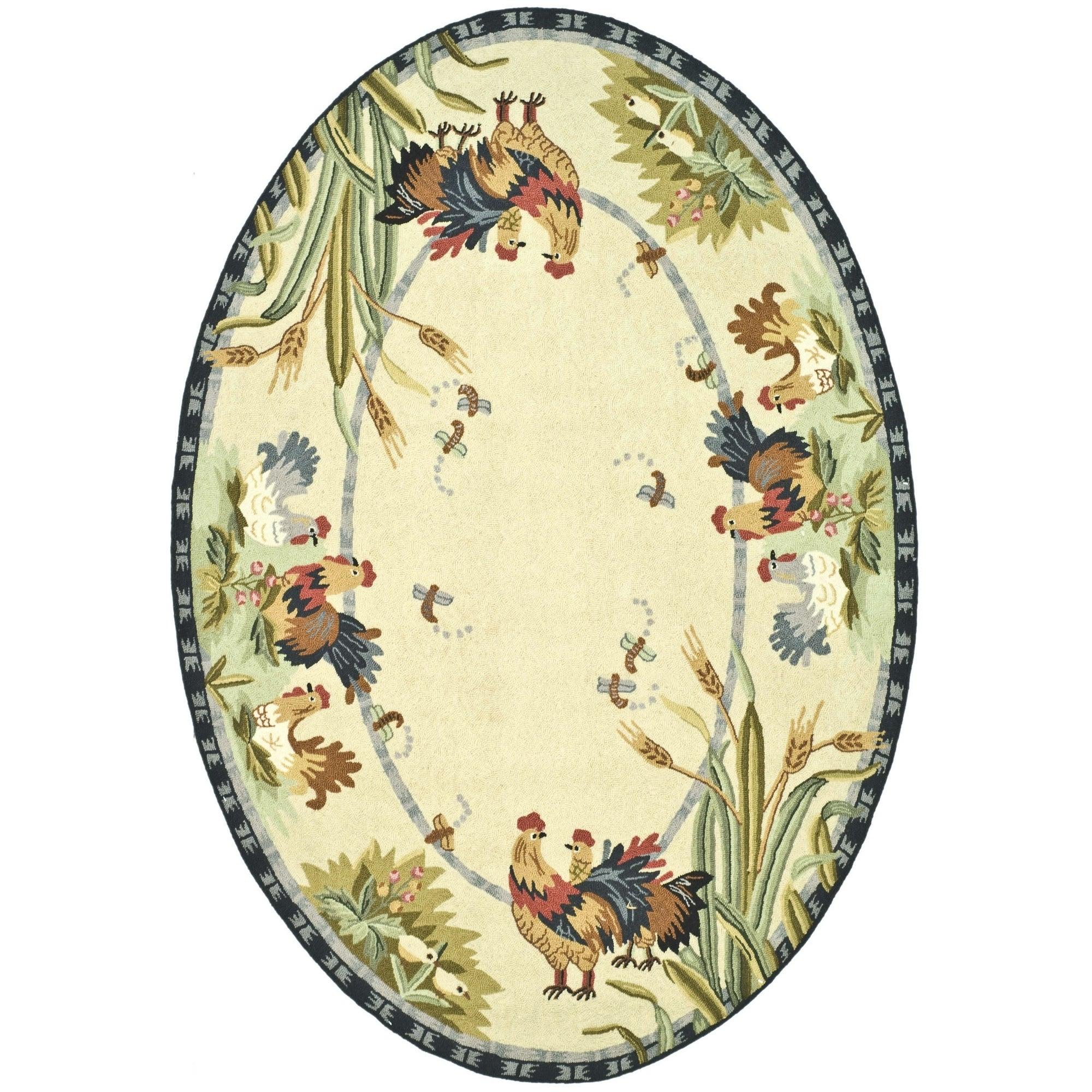 Safavieh Handmade Chelsea Ivory Wool Area Rug (4'6 x 6'6 ...