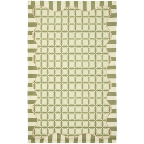 Safavieh Hand-made Chelsea Green Wool Rug - 8'9 X 11'9