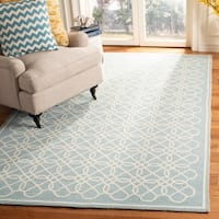 "Safavieh Hand-made Chelsea Blue/ Ivory Wool Rug - 5'3"" x 8'3"""