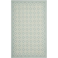 Safavieh Hand-made Chelsea Blue/ Ivory Wool Rug - 7'9 x 9'9
