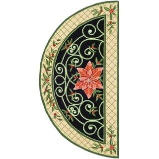 Safavieh Hand-made Chelsea Green/ Beige Wool Rug (2' x 4' Hearth)