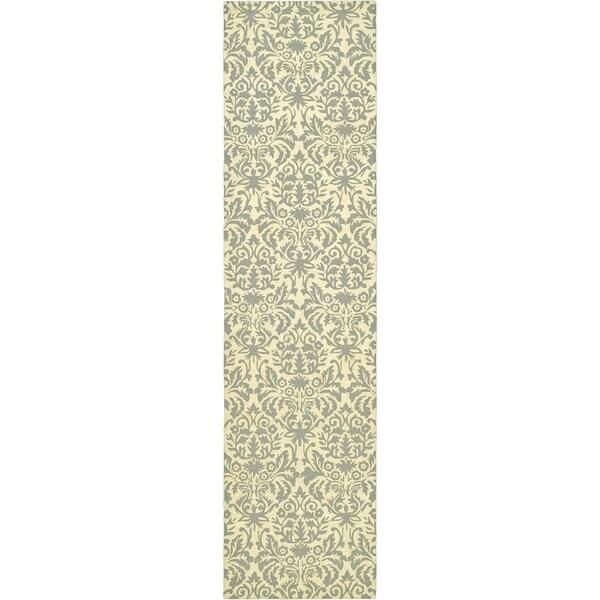 Safavieh Hand-made Chelsea Beige Yellow/ Grey Wool Rug (2'6 x 12')