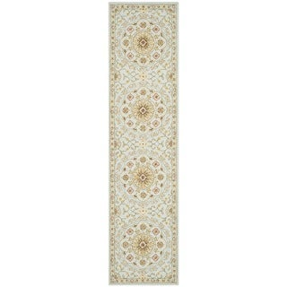 Safavieh Hand-made Chelsea Teal/ Green Wool Rug (2'6 x 6')