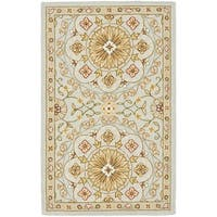 Safavieh Hand-made Chelsea Teal/ Green Wool Rug (2'9 x 4'9)