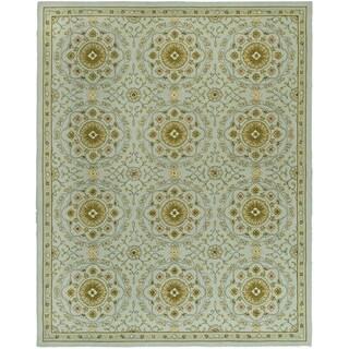 Safavieh Hand-made Chelsea Teal/ Green Wool Rug (6' x 9')